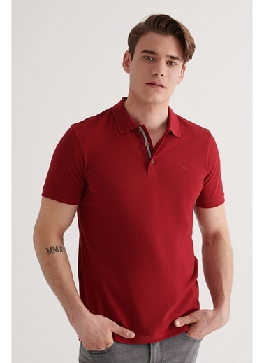 Avva Erkek Polo Yaka Düz T-Shirt A11B1174 Bordo